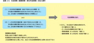 図表[1] 社会保険(健康保険・厚生年金保険)の加入要件