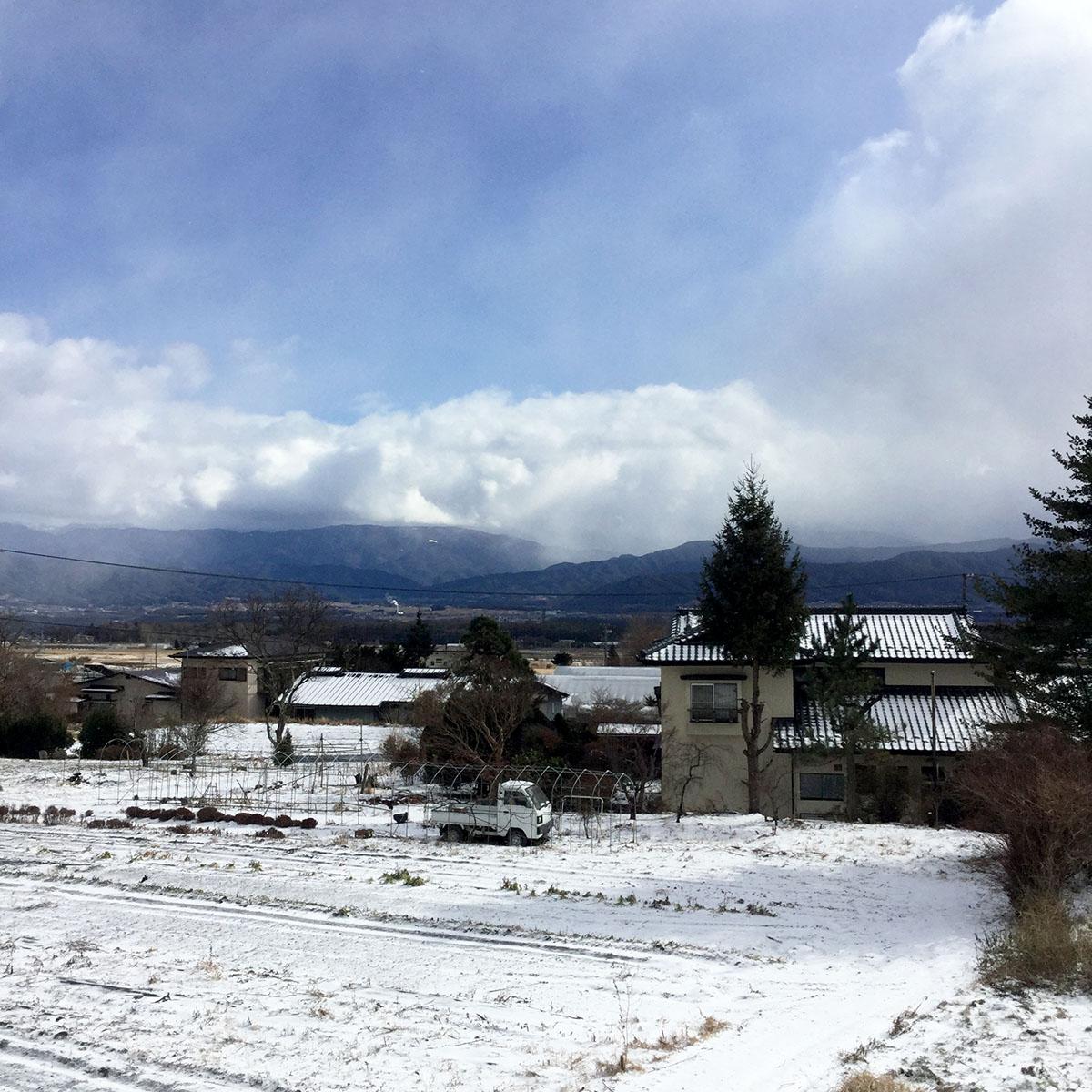 伊那谷の雪景色